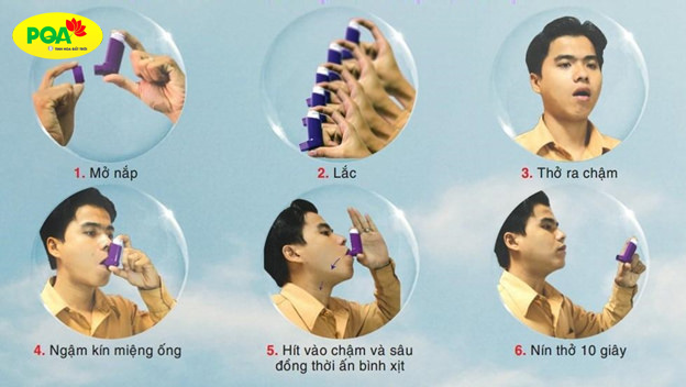 Cách sử dụng bình xịt định liều hen suyễn