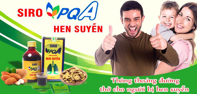 Siro PQA Hen Suyễn - Thông thoáng đường thở cho người hen suyễn