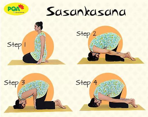 Bài tập thở Sasankasana